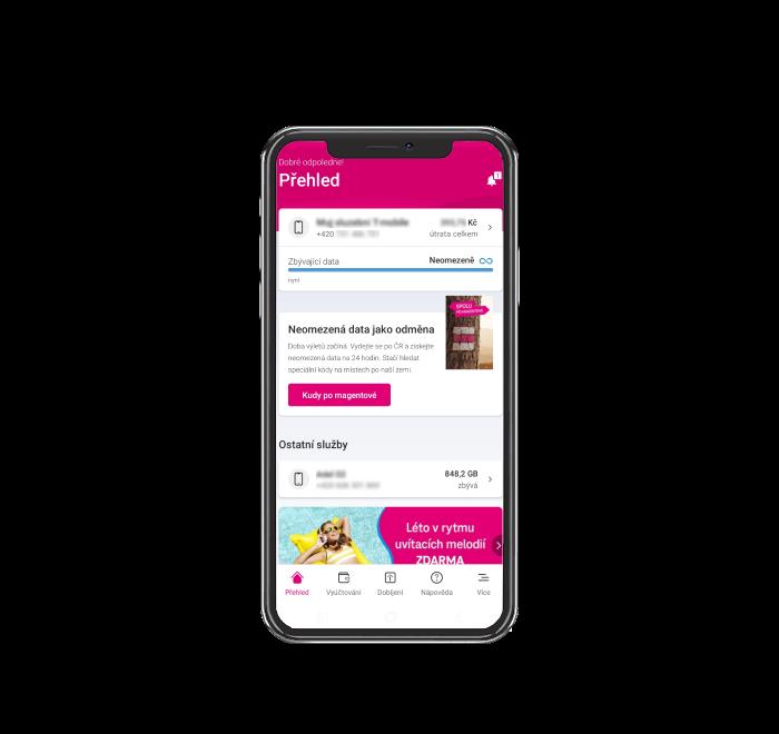 Přihlášení v mobilní aplikaci
